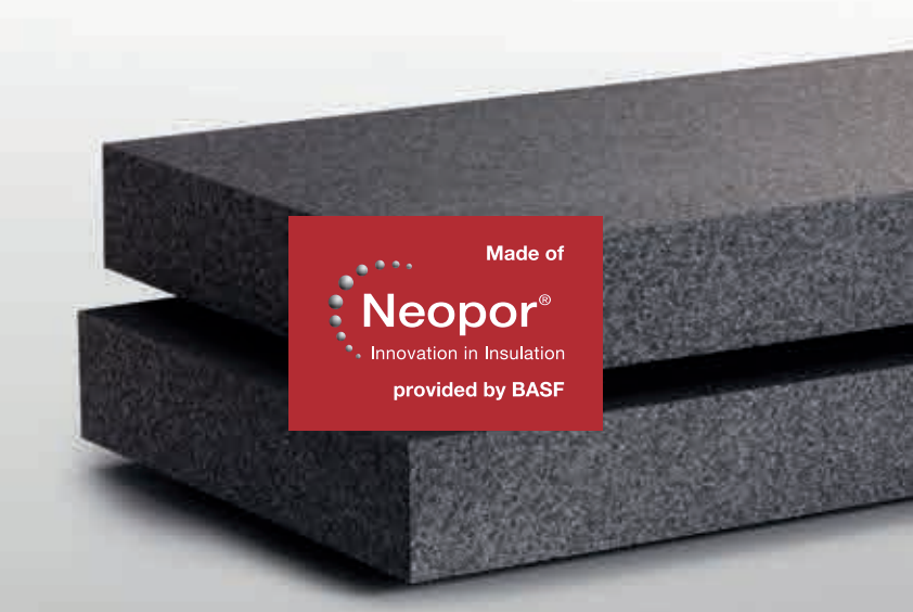 Neopor GPS rigid insulation made by BASF