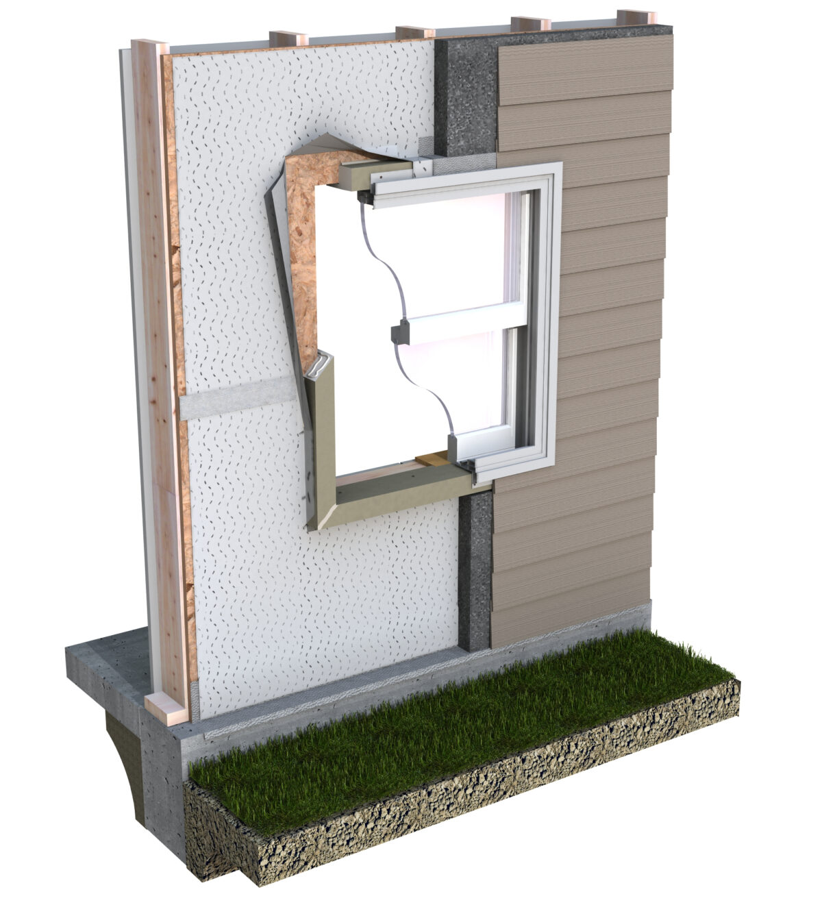 ThermalBuck wall assembly with Neopor insulation